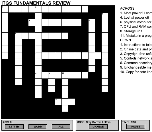 ITGS crossword