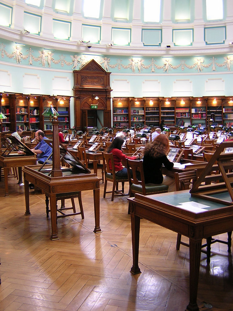 Researchers in library