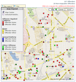 Online offender map