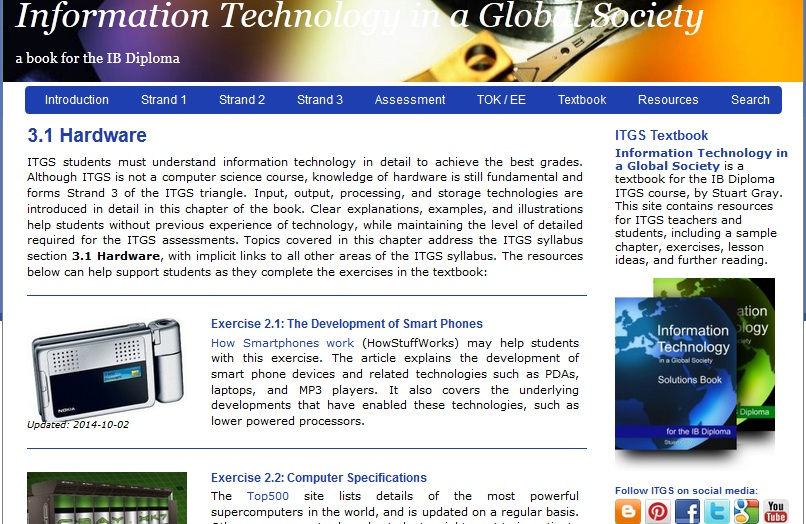 New ITGS website design
