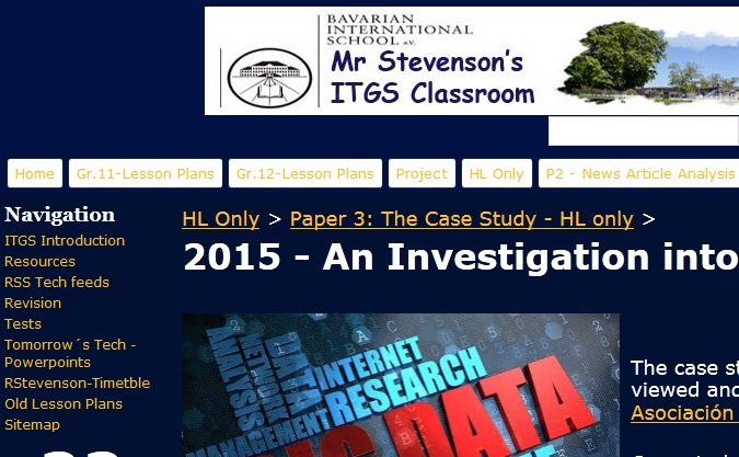 Studying for the ITGS Case Study 2015