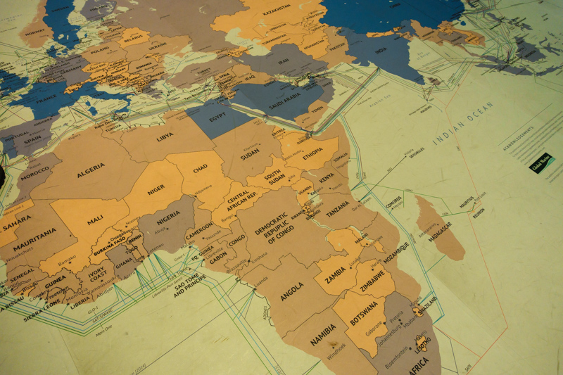 Visualization of African Internet backbone