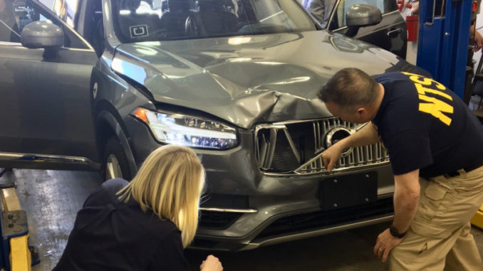 Uber driverless car accident