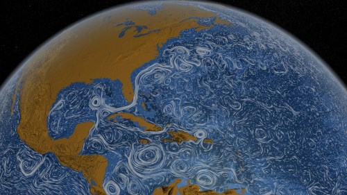 Ocean currents visualization