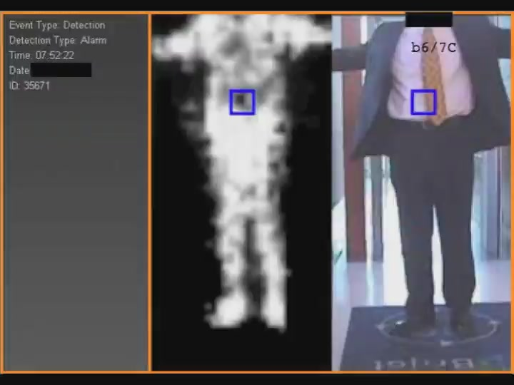 Naked body scanner image
