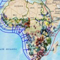 Africa fibre optic cable map