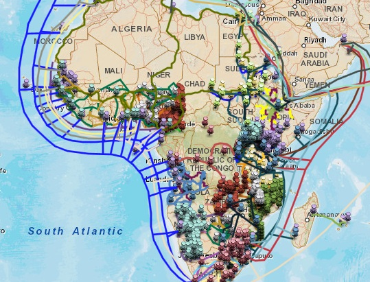 African fibre optic cable map   ITGS News
