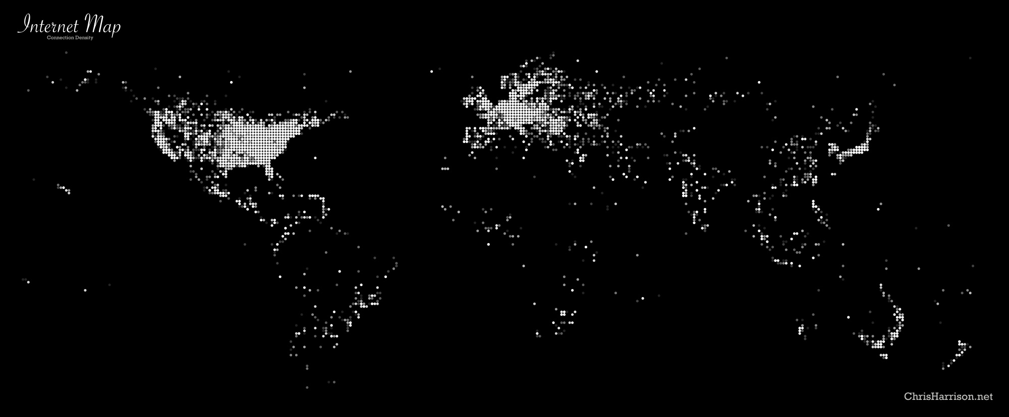 Internet density map