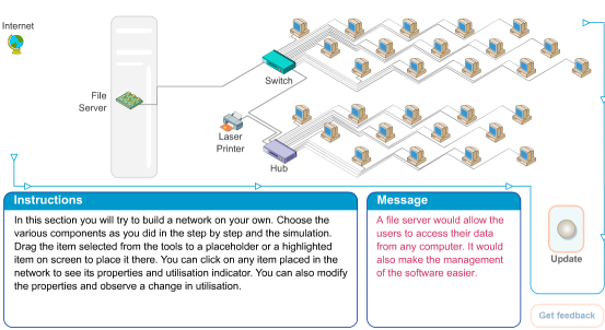 Flash tool for teaching networks