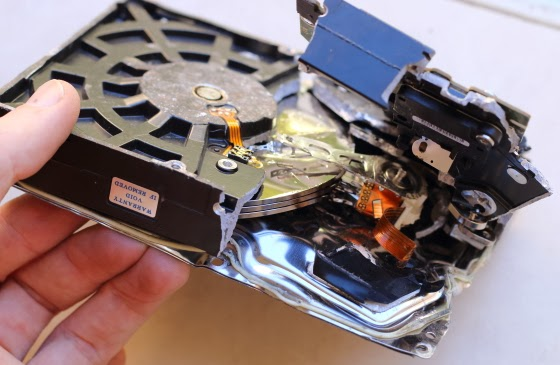 Destroyed hard disk