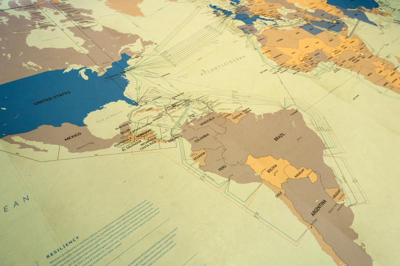 Internet backbone map of South America