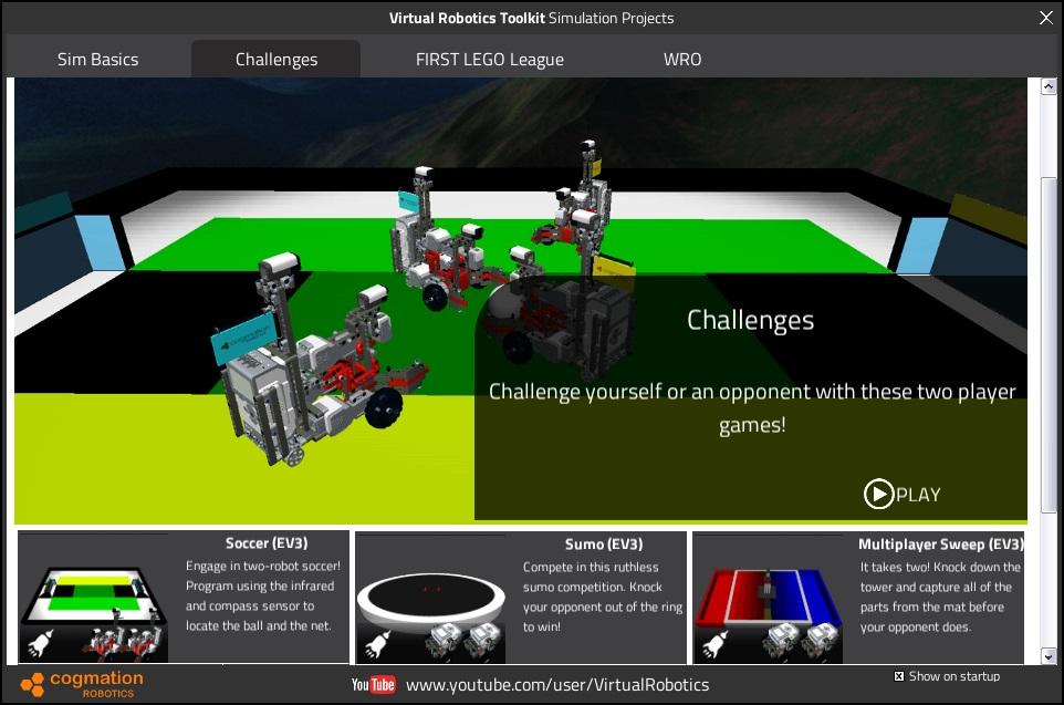 Lego robotic simulator