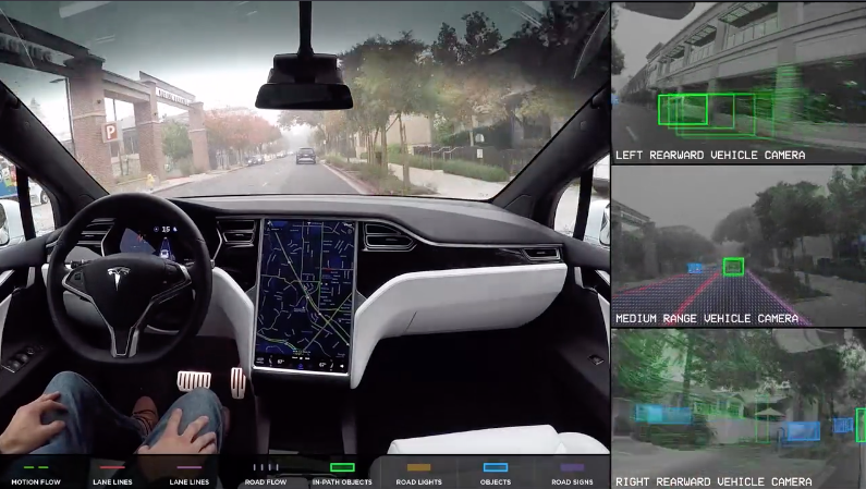 Tesla autonomous vehicles